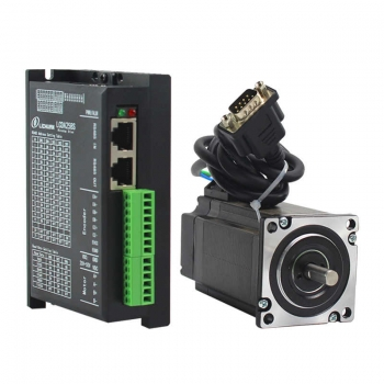 Lichuan LCDA258S-485+LC57H2100 2phase Nema23 2Nm Closed Loop Schrittmotor ModBus RS485  Protokoll 20-50V