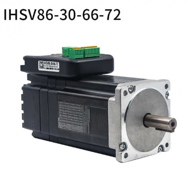 Integrated 660W Closed Loop Servo Motor 72VDC JMC iHSV86-30-66-72 V604 Nema34